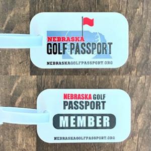 Nebraska Golf Passport Member Bag Tag